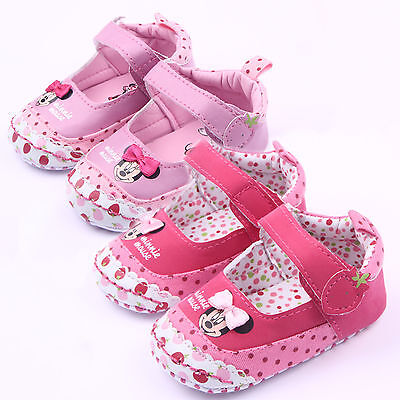 Toddler Baby Minnie Mouse Girls Newborn Infant Prewalker Soft Sole Crib - Minnie Mouse Toddler Shoes