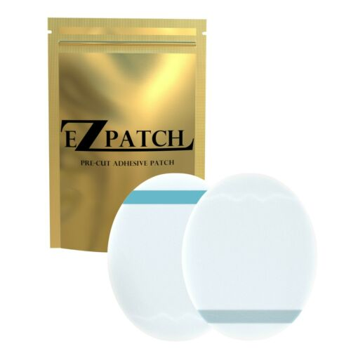 EZPatch Adhesive Patch for Freestyle Libre,Enlite,CGM with NO HOLE Clear 20 Pcs