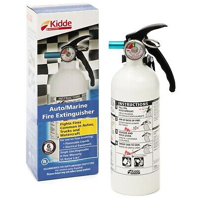 Fire Extinguisher Home Car Office Safety Kidde 5-bc 3-lb Disposable Marine
