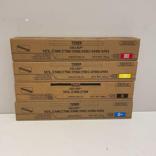 Sharp MX-27NT CMYK Toner Set - MX-2300 MX-2700 MX-3500 SEALED OEM GENUINE NEW