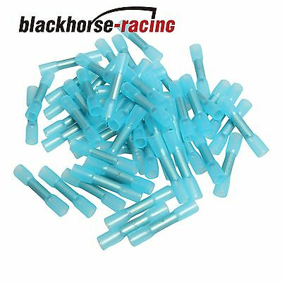 100X Bu 14 16 Waterproof Heat Shrink Sleeves Connectors Electrical Wire Terminal