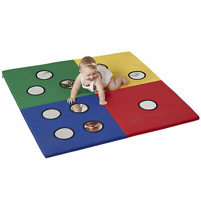 ECR4Kids SoftZone Counting Tummy Time Activity Play Mat with Child-Safe -