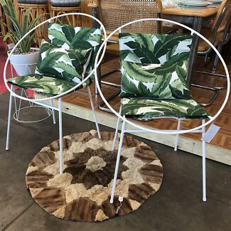 REDUCED! One-Of-A-Kind Mid Century Saucer Chairs