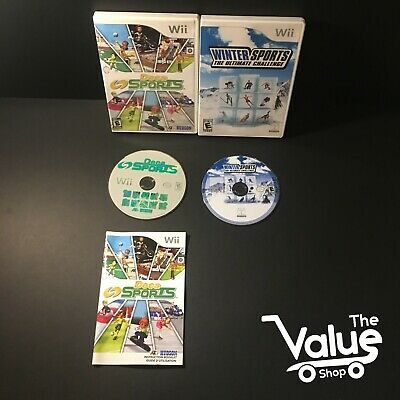 Nintendo Wii Video Game Lot (2 Games): Deca Sports & Winter Sports