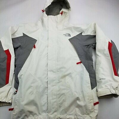 THE NORTH FACE HYVENT MENS SKI JACKET SZ Small Insulated Hooded Nice White