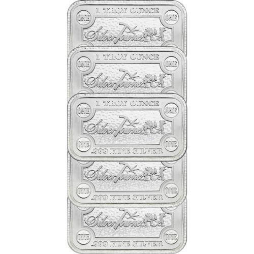 Купить SilverTowne Money Bars 1oz .999 Silver Bar 5pc
