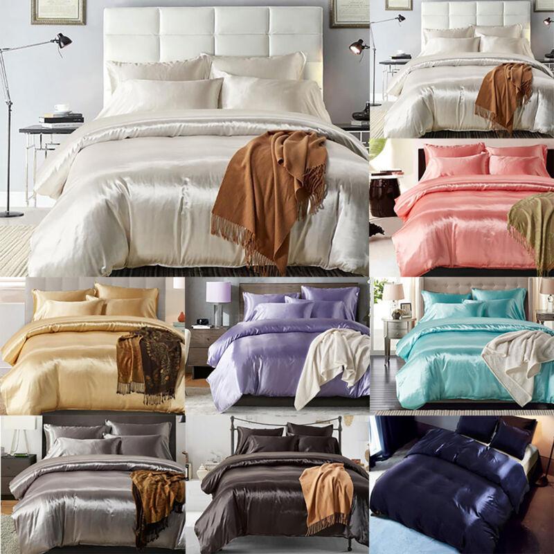 3 Piece Bedsure Quilt Duvet Cover Silk Soft Bedding Set Sing
