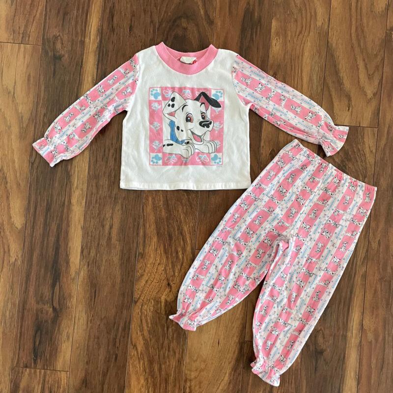 girl's disney 101 dalmations Vtg matching pajama set 4T
