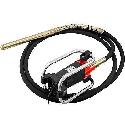 Agitador de Hormigón 1600W Vibrador de Hormigon Eléctrico 5600RPM con Aguja 6M