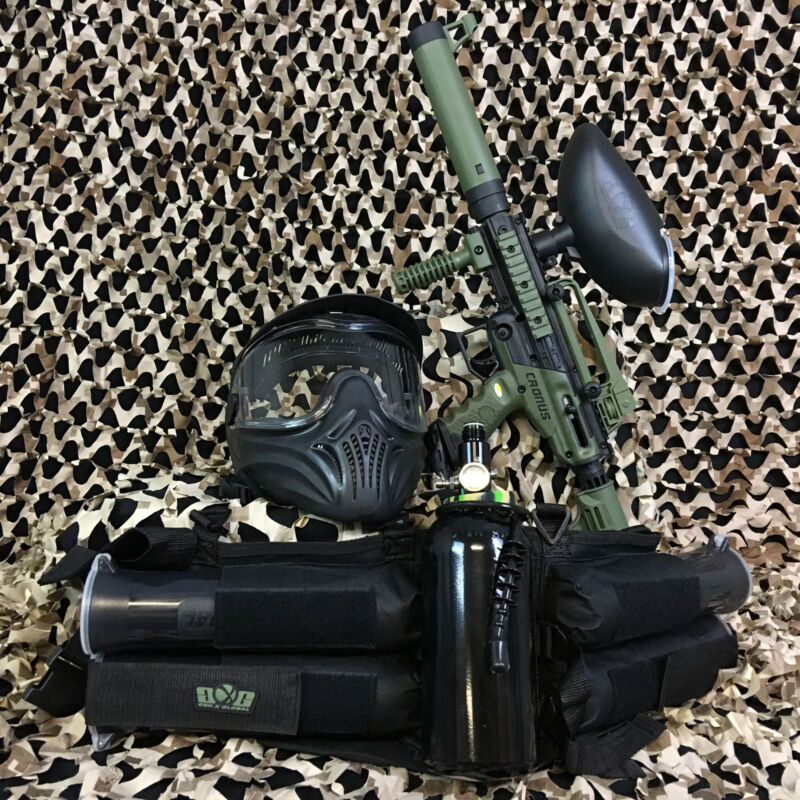NEW Tippmann Cronus Tactical LEGENDARY Paintball Gun Package Kit - Olive/Black