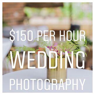$150 p/h WEDDING PHOTOGRAPHY SALE