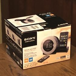 Sony Dream Machine Alarm Clock AM FM Radio ICF-C7iP iPod iPhone Dock - Complete