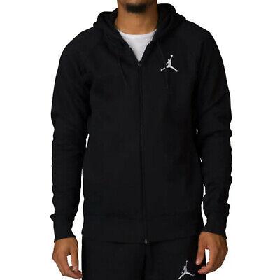 NEW Nike Air Jordan Flight Fleece Full-Zip Hoodie Men's Black 823064-010