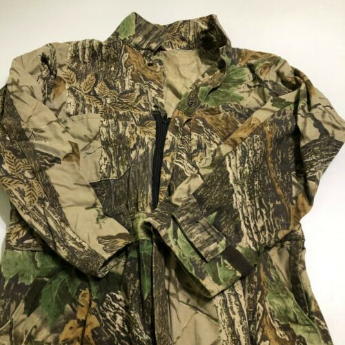 """Vintage Walls RealTree Mens Camo Hunting Coveralls Size 47"""" Chest x 28"""" FLAWS"""