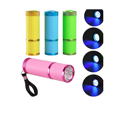 Mini LED Flashlight Torch UV Lamp Nail Dryer Battery Operated Portable Outdoor