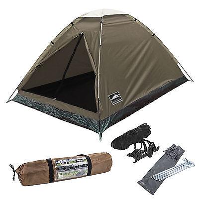 Dutch Mountains Kuppelzelt 2 Personen 210x140x115 cm braun 1,6 Kg für Camping