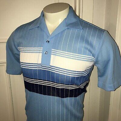 Vtg 50s 60s Styled CALIFORNIA Mens MEDIUM Stretch Polyester Shirt Disco Rat (Mens 60s Style)