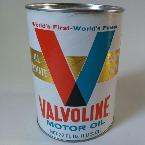 Vintage Valvoline Motor Oil SAE 10W-20W-40 1 Quart Full Can