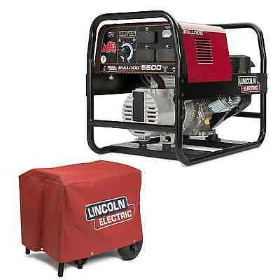 Lincoln Bulldog 5500 Stick Welder Generator With Cover K2708-2 K2804-1