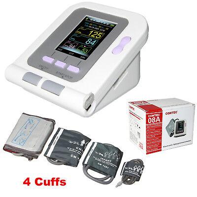 Electronic Sphygmomanometer Blood Pressure Neonatalinfantchildadult 4 Cuffs