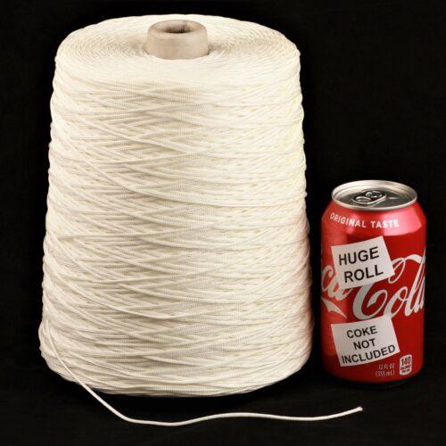 BULK LOT Solid White #43 Needloft Nylon Craft Cord - 4,000 feet! USA