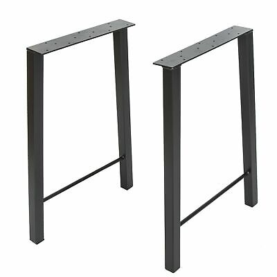 28'' DIY Industry Trapezoid Dinner Coffee Table Leg Metal Steel Desk Legs