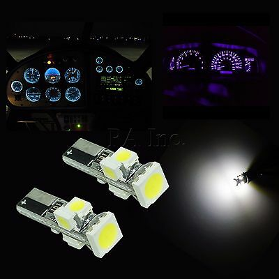 2x T5 WHITE 58 70 73 74 Dashboard Gauge 5050 3528 SMD LED Wedge Lamp Bulb Lights