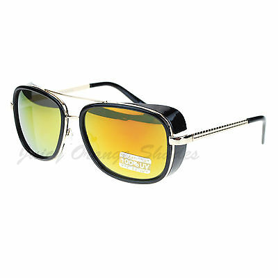 Studio Cover Side Shield Sunglasses Square Frame Color Mirror Lens Cover Lens Shield