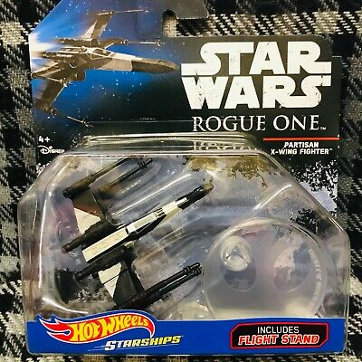 HOT WHEELS - STAR WARS DIE-CAST - PARTISAN X-WING FIGHTER (Rogue One card)