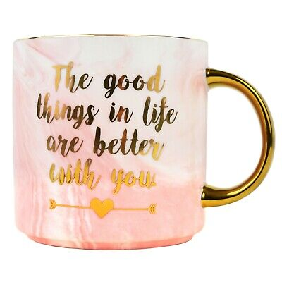Best Love Mug – Gifts for Mothers Day Mom Sister Girlfriend Marble Ceramic Mugs