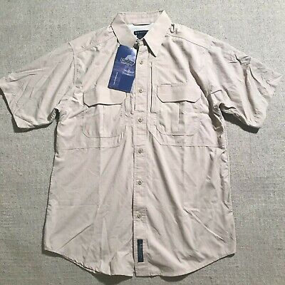 NEW 5.11 Tactical Series Mens Button Up Short Sleeve Vented Shirt Nylon Sz M #P3 5.11 Tactical Nylon Shorts