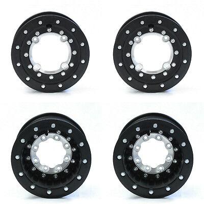 "Hiper Tech 3 MX Dual Beadlock 10"" Front 8"" Rear Wheels Rims Black TRX 450R 250R"