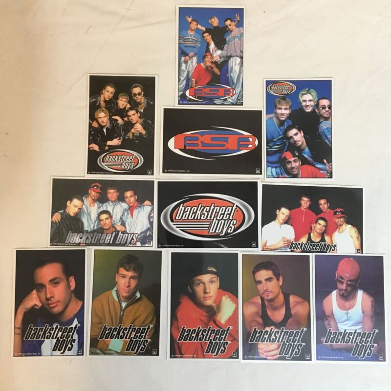 Vintage 1999 Full Set of 12 Backstreet Boys Productions Stickers BSB Free Ship!