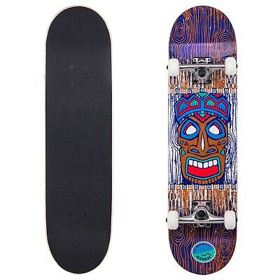 Cal 7 Tiki Kahuna Complete Skateboard, 8 Inch Deck with 52mm 99A Wheels