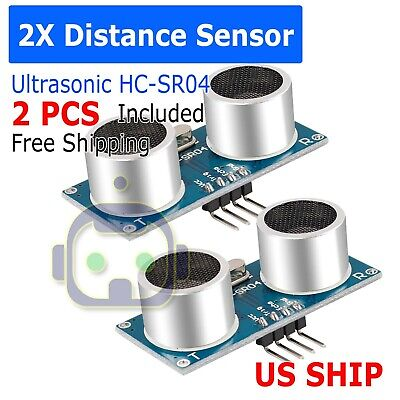 2x Ultrasonic Module Hc-sr04 Distance Transducer Sensor For Arduino Robot