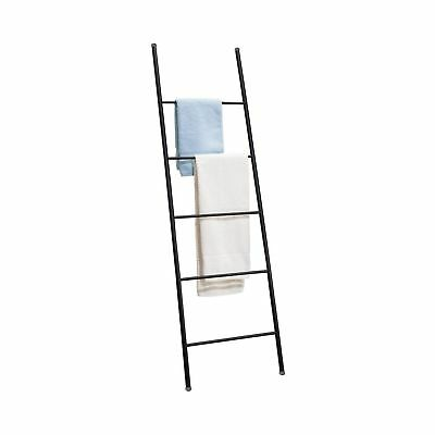 mDesign Free Standing Bath Towel Bar Storage Ladder - 5 Rung