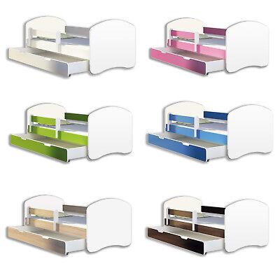 Jugendbett und Matratze mit einer Schublade Kinderbett  Weiß ACMA
