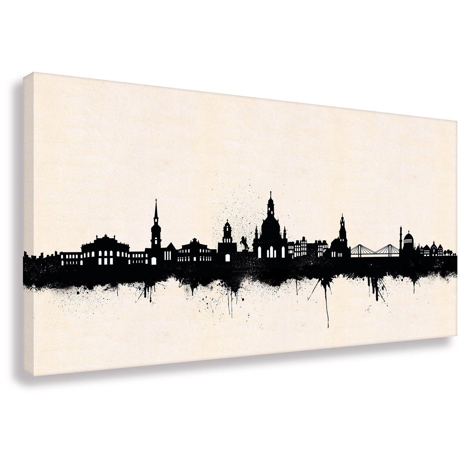 Dresden Bild auf Foto Leinwand Wandbild Poster Modern Design  100 cm*65 cm 513