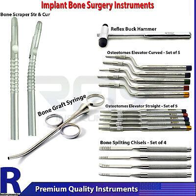 Dental Implant Osteotomes Elevators Sinus Lift Bone Graft Syringe Bone Scrapers