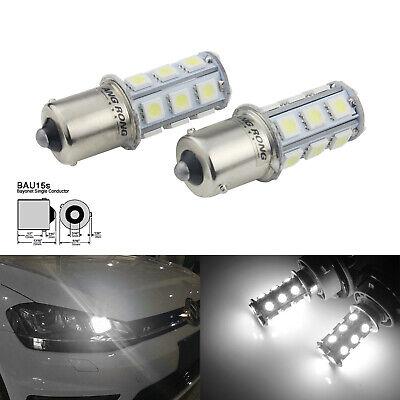 2x PY21W BAU15s 581 3W Birne Tagfahrlicht Bremslicht Rücklicht Blinklampen Licht