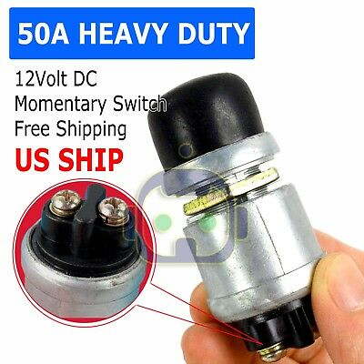 12 Volt Dc Heavy-duty Momentary Push-button Starter Switch 50 Amps