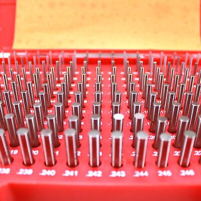 Hfsr 190 Pcs .061-.250 M1 Class Zz Steel Pin Gage Set Plus