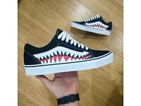 セカイモン | custom bape shark vans