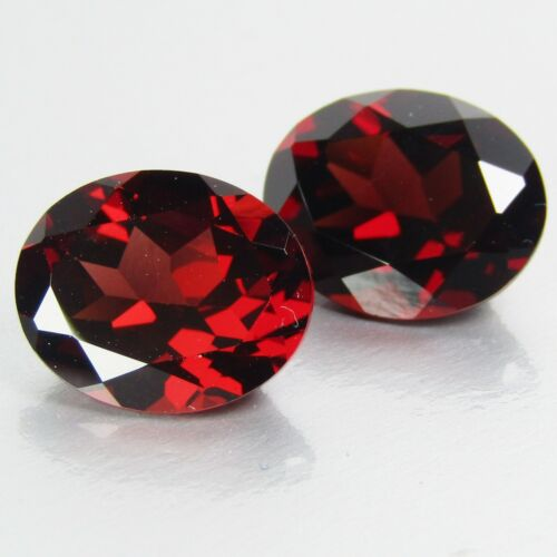 4.38Cts Natural Lovely Almandine Garnet Oval Cut Nice Pair Africa Gemstone VDO