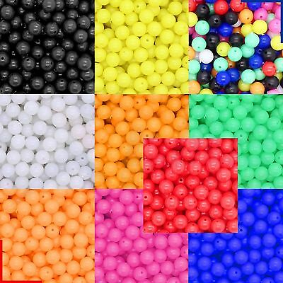 Sea Fishing Beads 6 or 8 mm Mixed Colours 5, 25, 50, 100, 250, 500, 1000