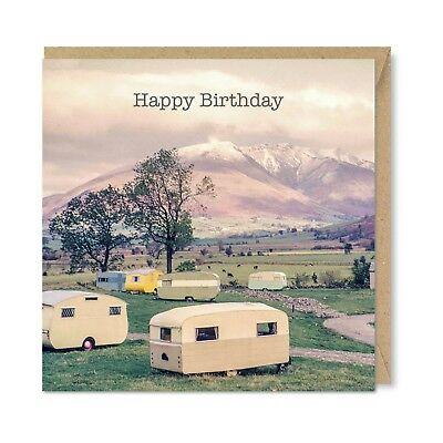Caravan Park 1960 - Vintage Retro Birthday Card - 1960's Lakes Lake District