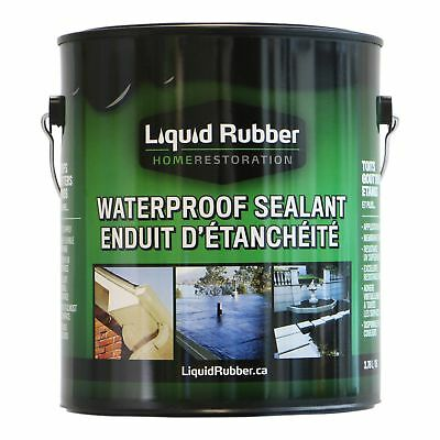 Liquid Rubber Waterproof Sealantcoating - 1 Gallon - Original Black -