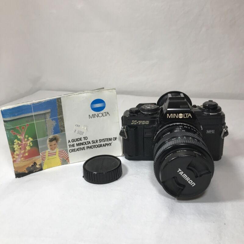 Minolta X-700 MPS SLR Film 35 mm Camera W/Tamron 28-70mm Tele-Macro Lens *Read*