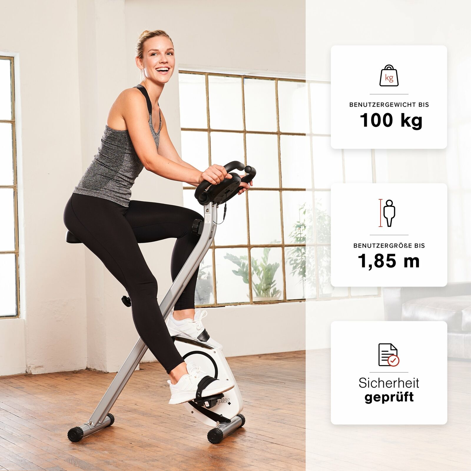SportPlus X-Bike Hometrainer Fitnessbike Fahrrad Trimmrad Heimtrainer klappbar