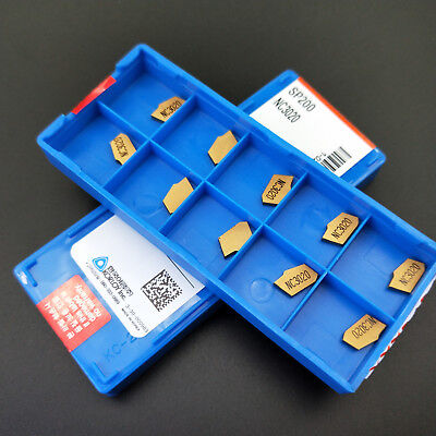100pcs Sp200 Nc3020 Gtn-2 Grooving Cut-off Carbide Inserts 2mm Width Zqmx2n11-1e